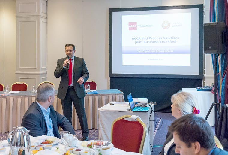 Process Solutions' successful joint business breakfast with ACCA in Budapest