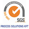 Process Solutions implemented ISO 9001:2009 quality management system.